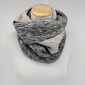Cole Haan Gray Striped Infinity Scarf
